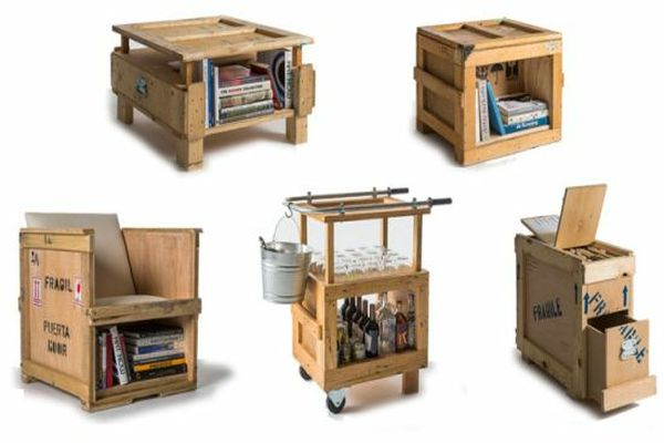 Furniture made up of used shipping crates by peveto at FURM   Home ...