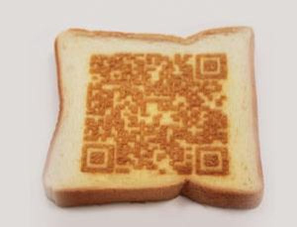 Toasted bread with laser cookery