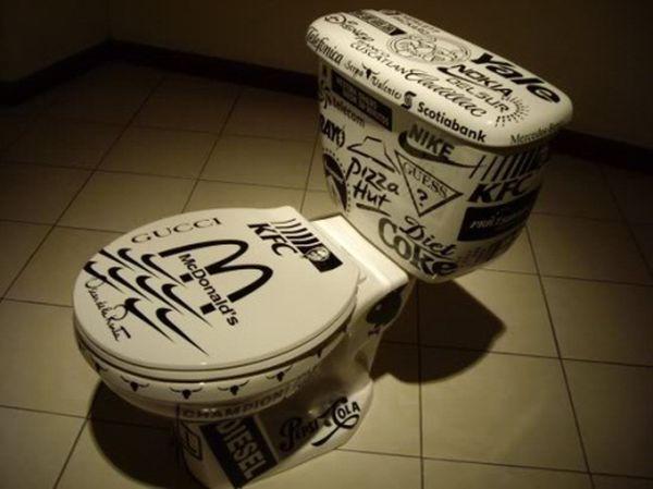 Company logo toilet seat