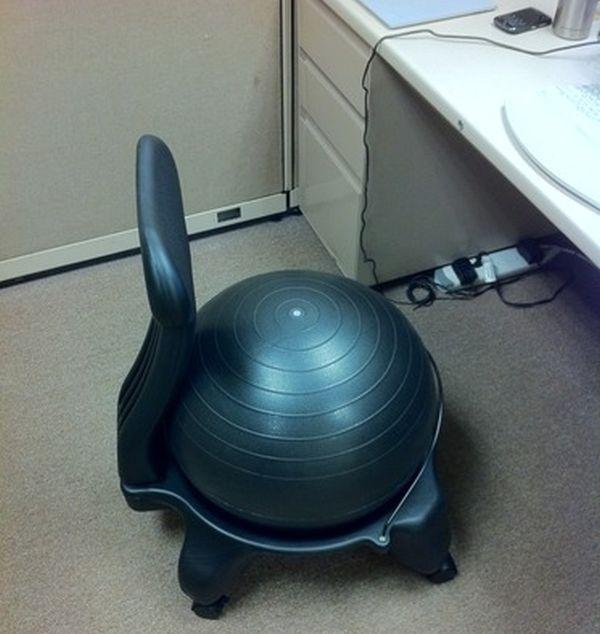 gaiam balance ball chair
