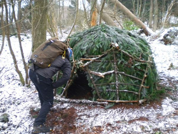 Geodesic dome out of natural tree branches by Kev Langan_5