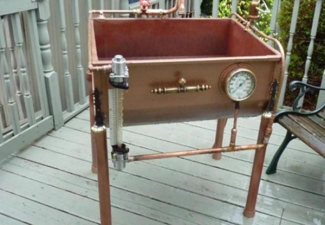 Steam pressure gauge steampunk sink