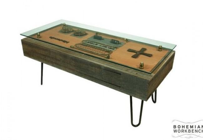 Steampunk Nintendo Controller Coffee Table_2