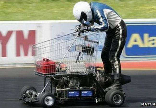 Britisher Matt McKeown builds jet-powered shopping trolley that travels at 44mph_1