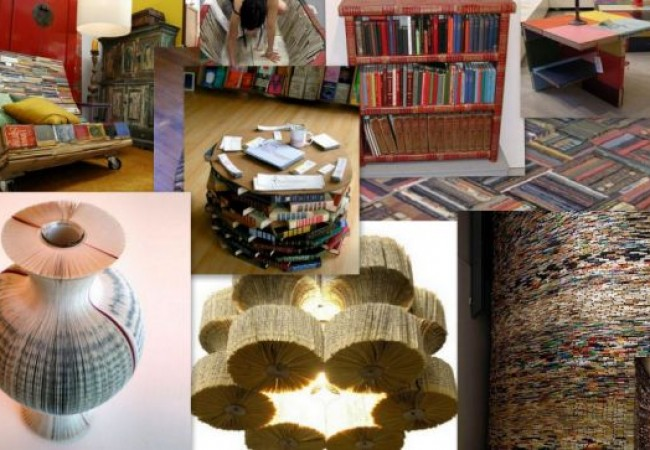 innovative furniture designs made from books