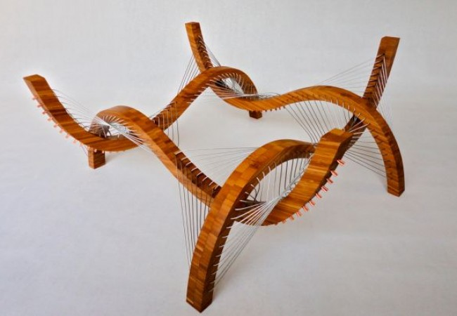 Robby Cuthbert's furniture made from steel cables and wood_3
