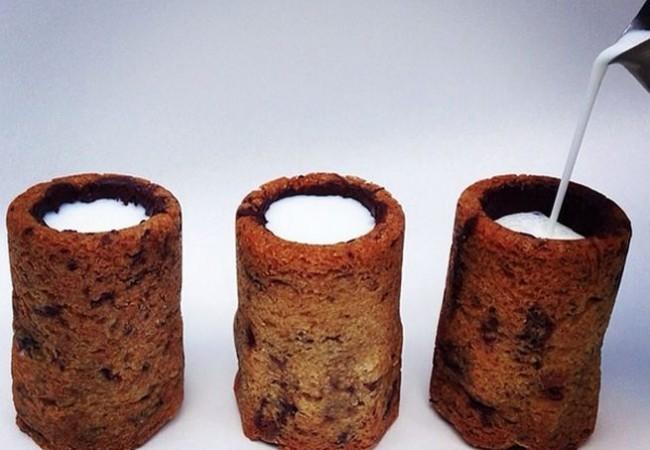 Chocolate chip cookie milk shot