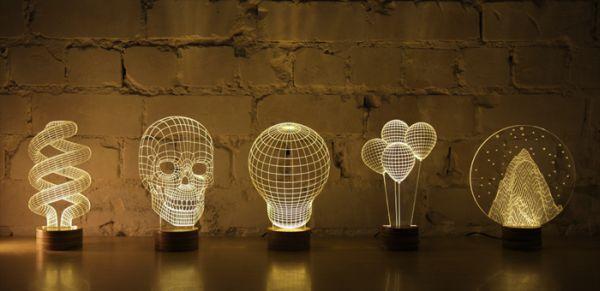 bulbing led lampsstudio cheha mimic 3d objects | home harmonizing!