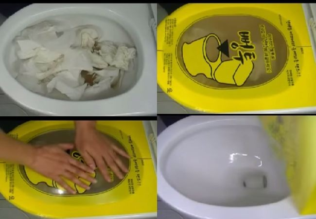 Mess free way of unclogging toilets