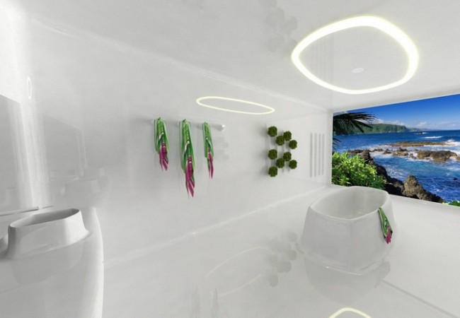 Elastigenic bathroom concept by Petr Strejcek