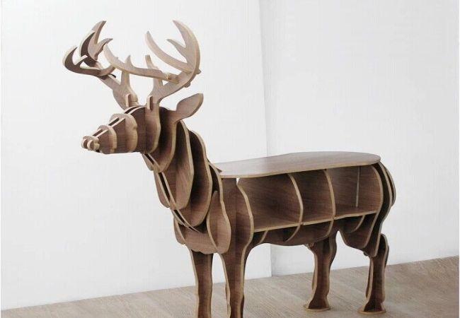 Animal Creative elk bookcase_1