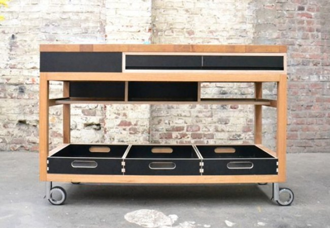 Mobile kitchen counter by Pierre Joncquez_1