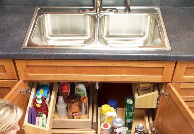 Build Handy Under Sink Storage Tray_1