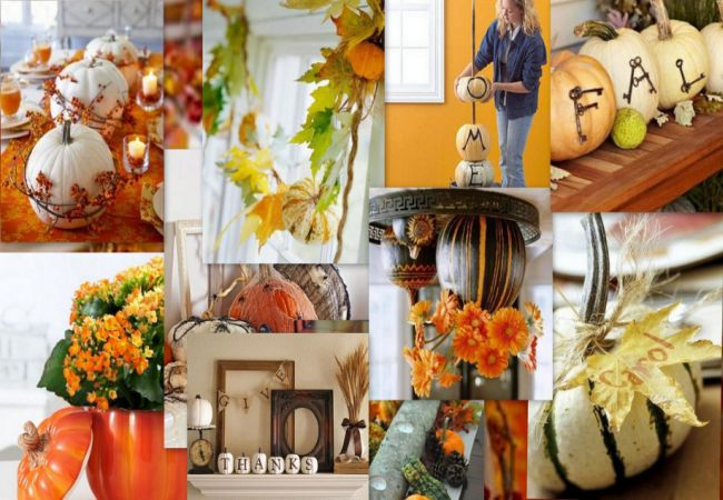 Thanksgiving Decoration Ideas with Pumpkins