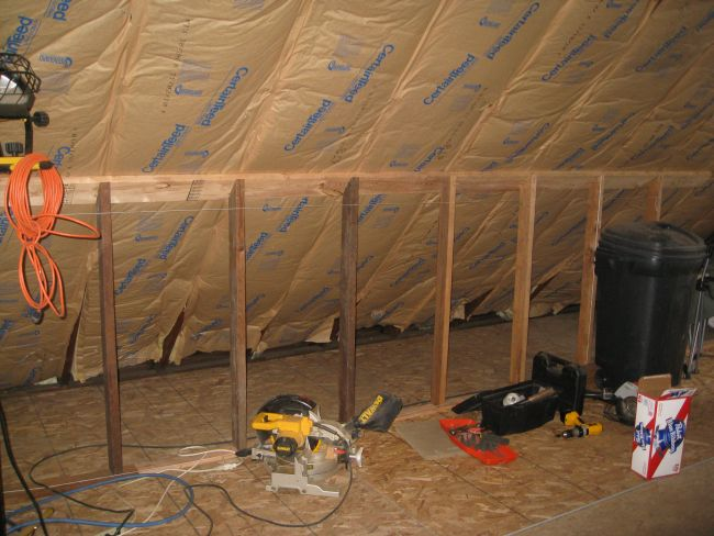 How to finish the attic walls and ceiling_1