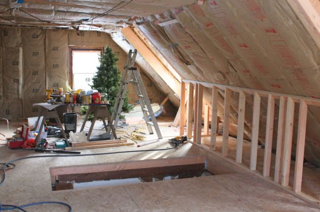 How to finish the attic walls and ceiling_4