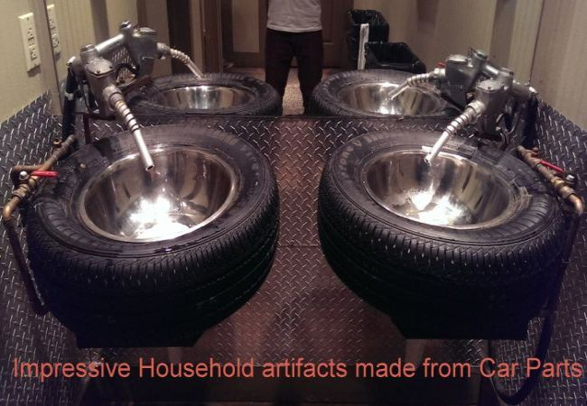 Impressive Household artifacts made from Car Parts_1