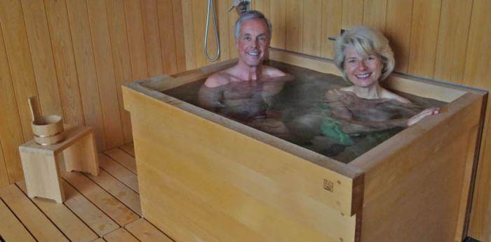 Hinoki Wood Japanese Bathtub