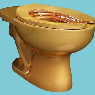 Guggenheim Museum Gold Toilet-1